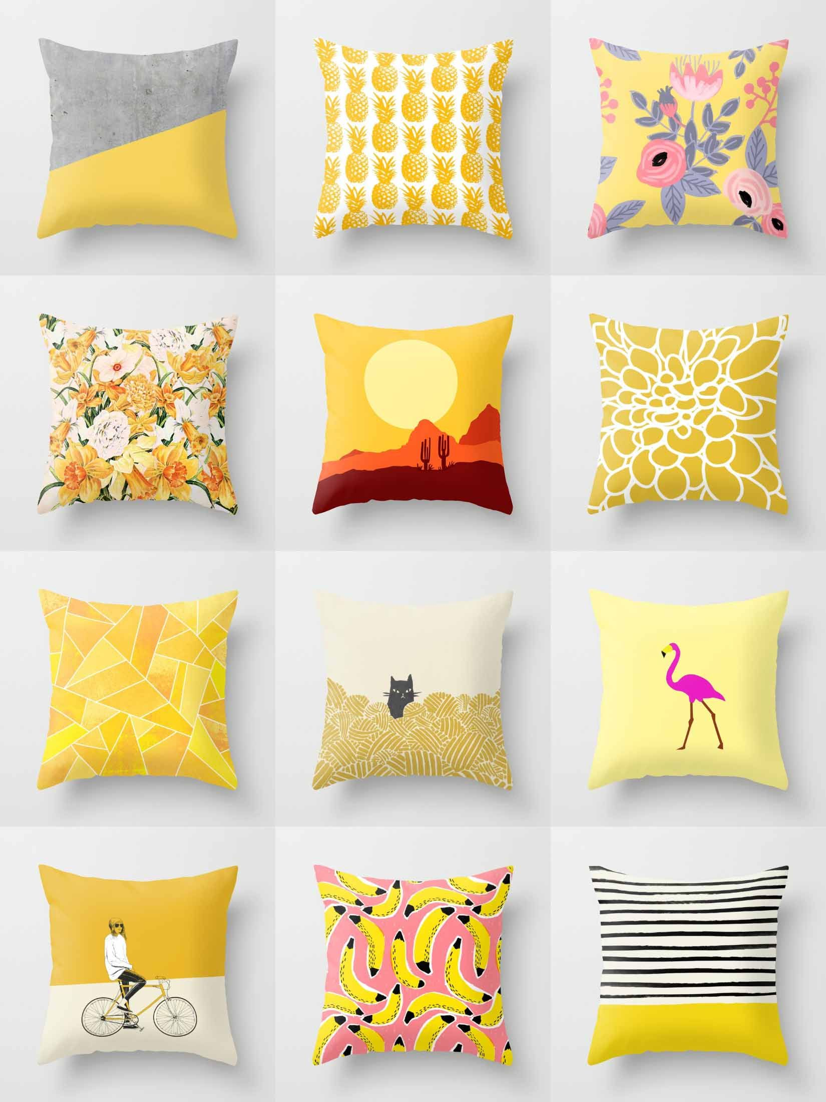 society6 yellow throw pillows society6 is home to hundreds of thousands of artists from around