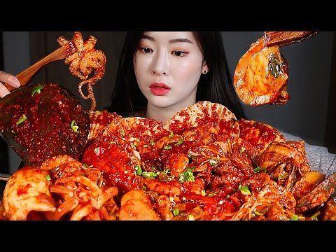 매운 대왕해물찜 볶음밥 리얼사운드먹방/MASSIVE SEAFOOD BOIL SPIC…