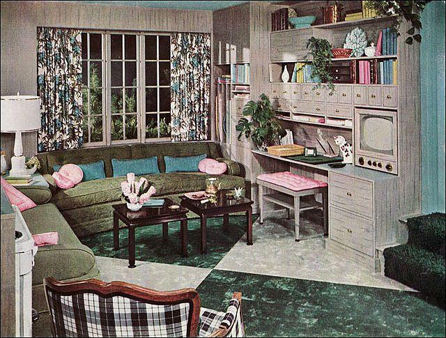 1953 Armstrong Living Room Retro Home Decor Retro Home 1950s Living Room