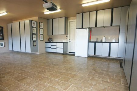 Ceramic Tile Floor Garage With Plenty Of Storage Derrek Holland