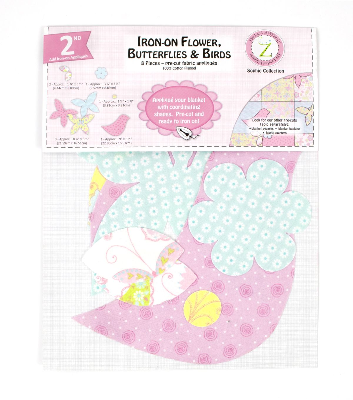 Land of Whimzie Sophie Flannel Iron On Appliques Iron