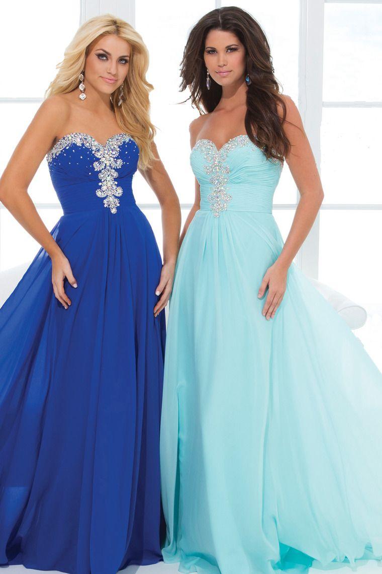 Shop New Arrival Prom Sweetheart Beaded Ruffled Floor Length Online ...