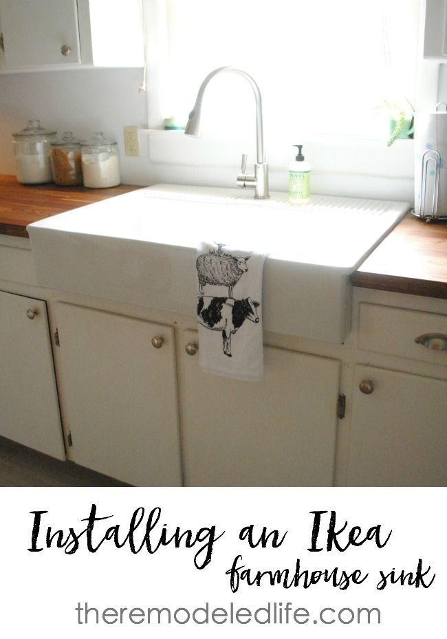 Ikea Cabinet Apron Sink Installing An Ikea Sink Ikeacabinet
