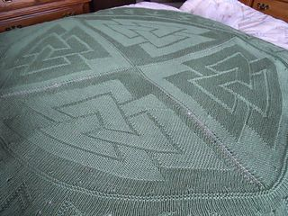 Valknut Viking hand knitted Throw / blanket