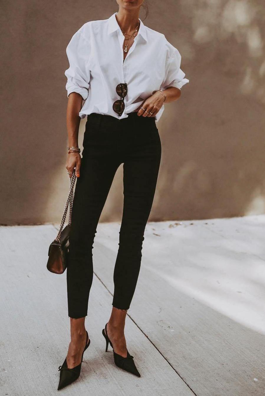 25+ Ways To Style A Button Down Shirt – M | Kläder, Vita