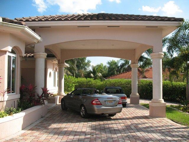 Carport. Roof line, brick drive, and columns. | Architecture ...