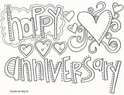 happy anniversary coloring pages  Google Search  Coloring
