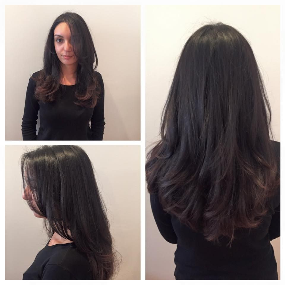 Concave layered haircut by Lauren at Sine Qua Non Lakeview