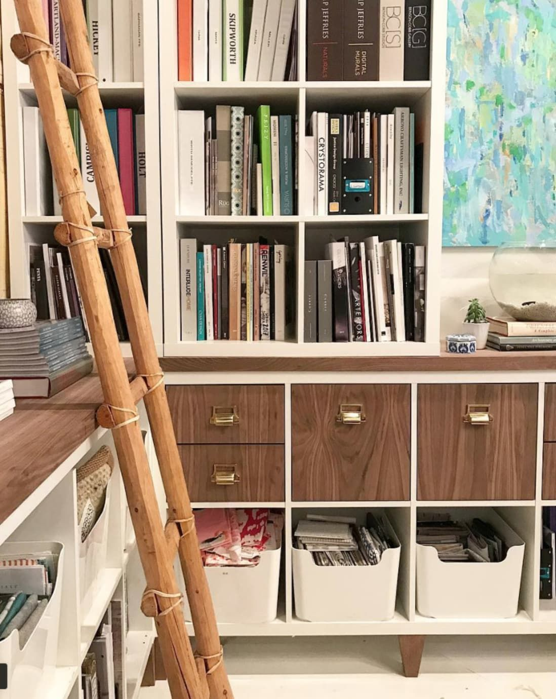 Little Magic Tricks To Make Your Ikea Look Less Like Laminate In 2020 Furniture Hacks Ikea Bookcase Diy Furniture Hacks