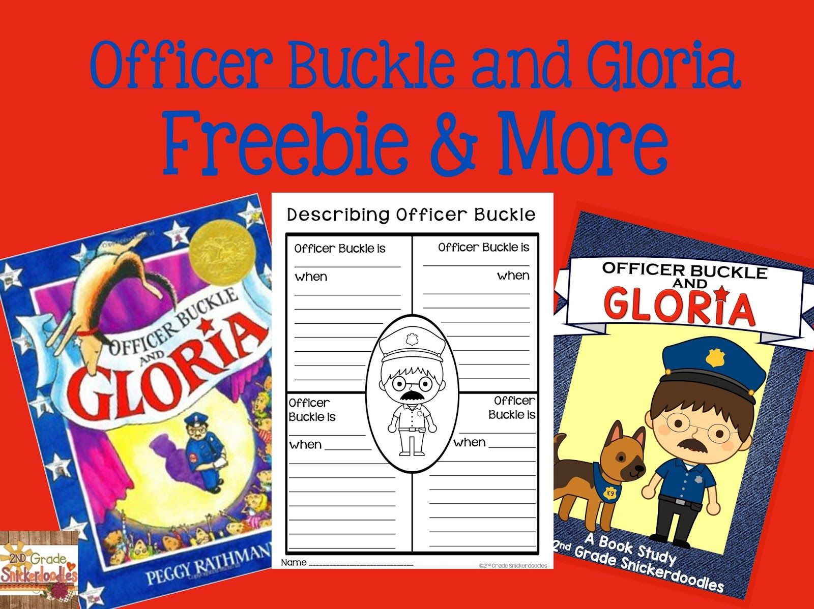 worksheet Officer Buckle And Gloria Worksheets 2nd grade snickerdoodles officer buckle and gloria freebie more