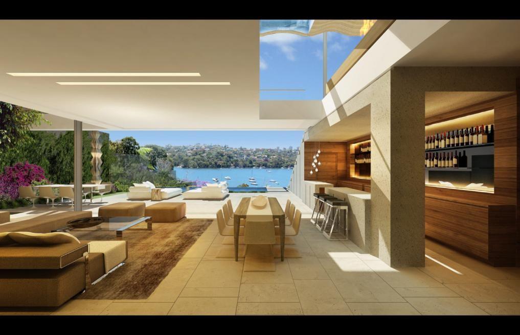Modern Home Open Layout Interior Design A Northbridge Sydney Australia Saota House