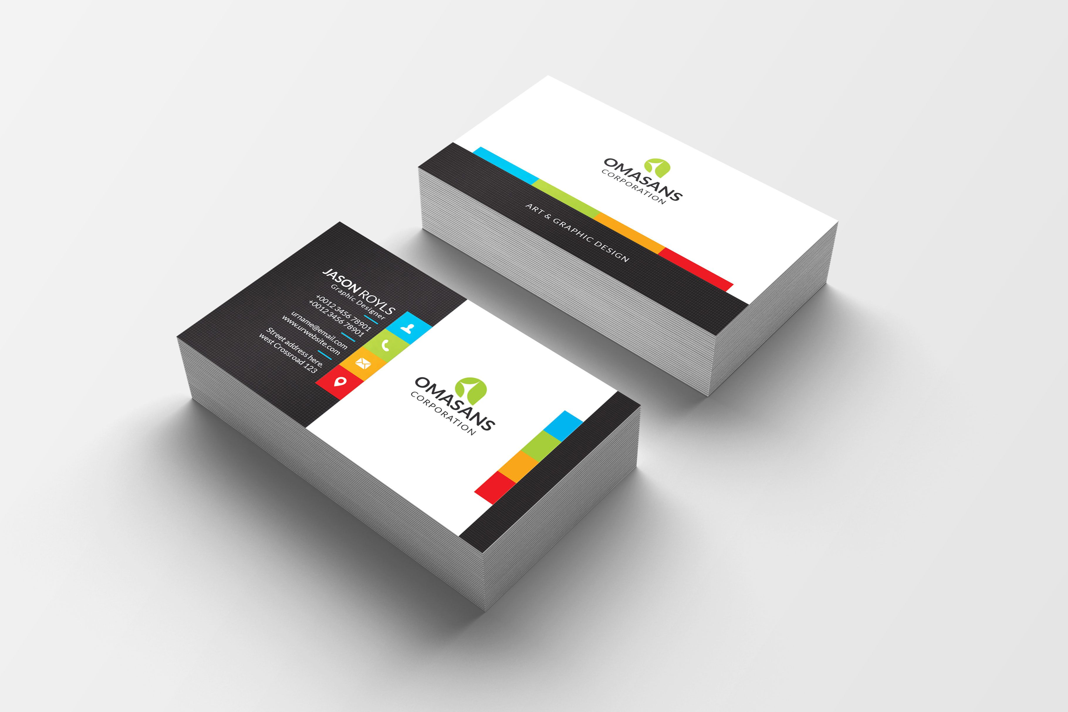 Psd Colorful Business Card Design 5