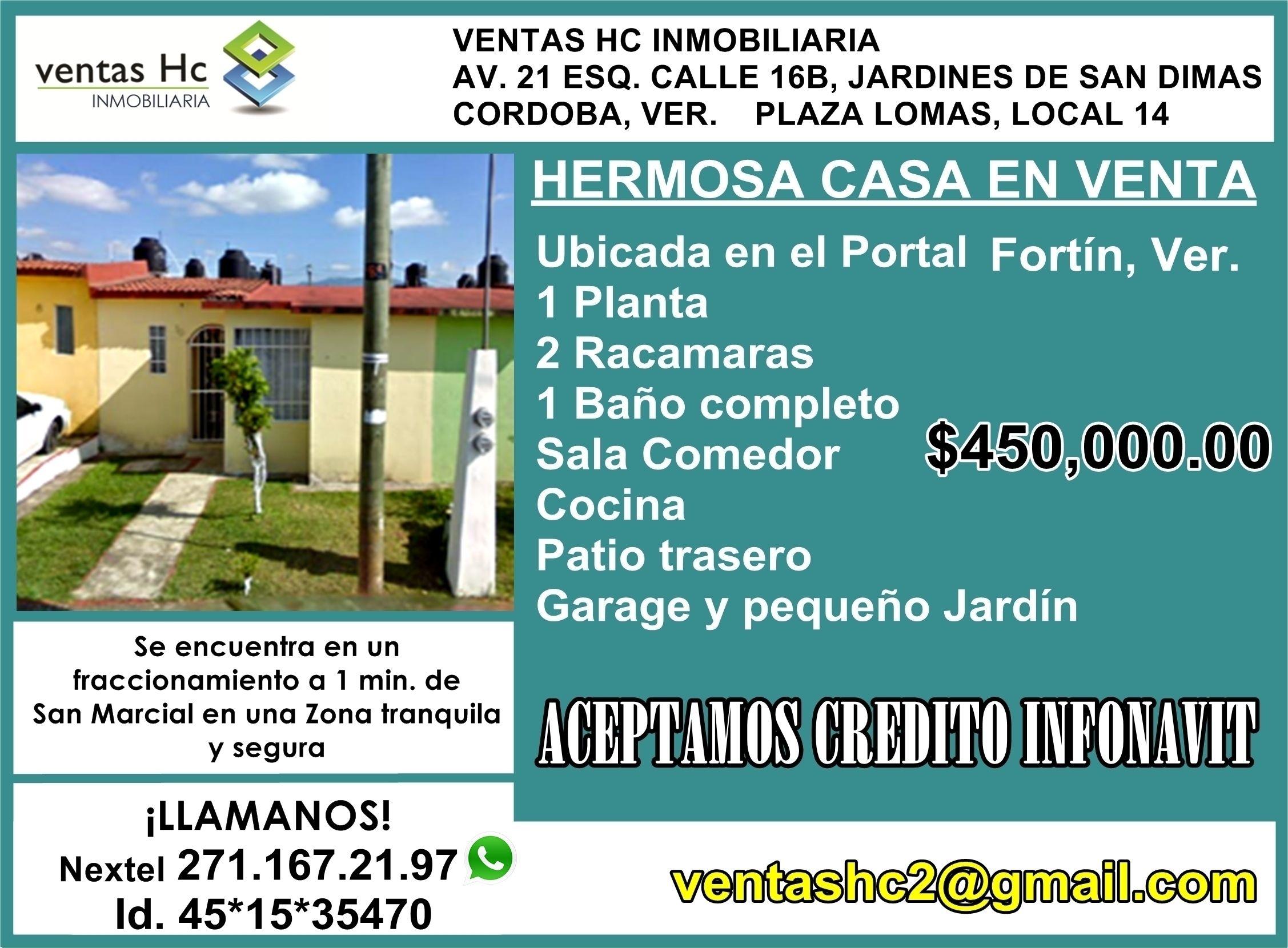 Casa en venta en Fraccionamiento el Portal.
