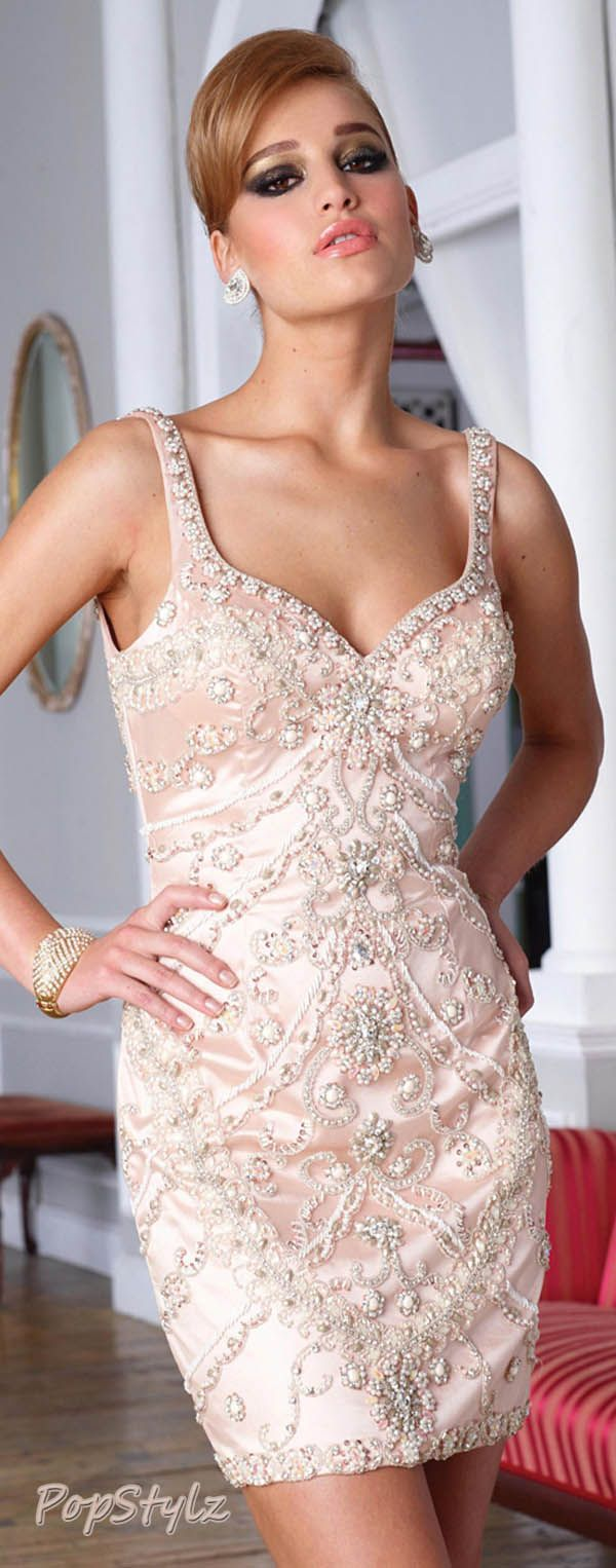 Terani Couture c1284 Nude Short Dress enamorada de este bestido ...