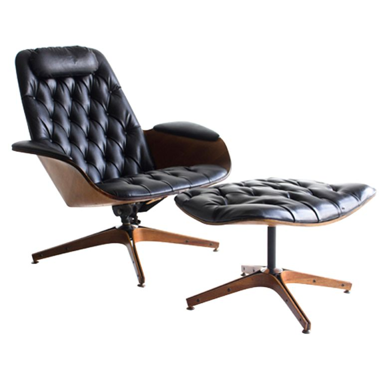 Super 1Stdibs George Mulhauser Lounge Chair And Ottoman For Ibusinesslaw Wood Chair Design Ideas Ibusinesslaworg