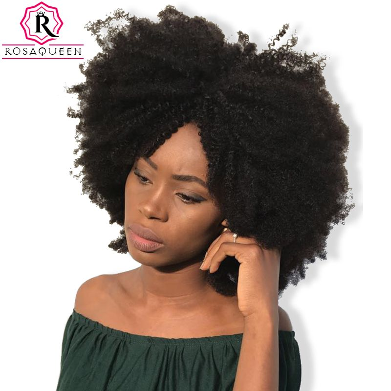 Mongolian Afro Kinky Curly Hair 4b 4c Natural Color 100 Curly Weave