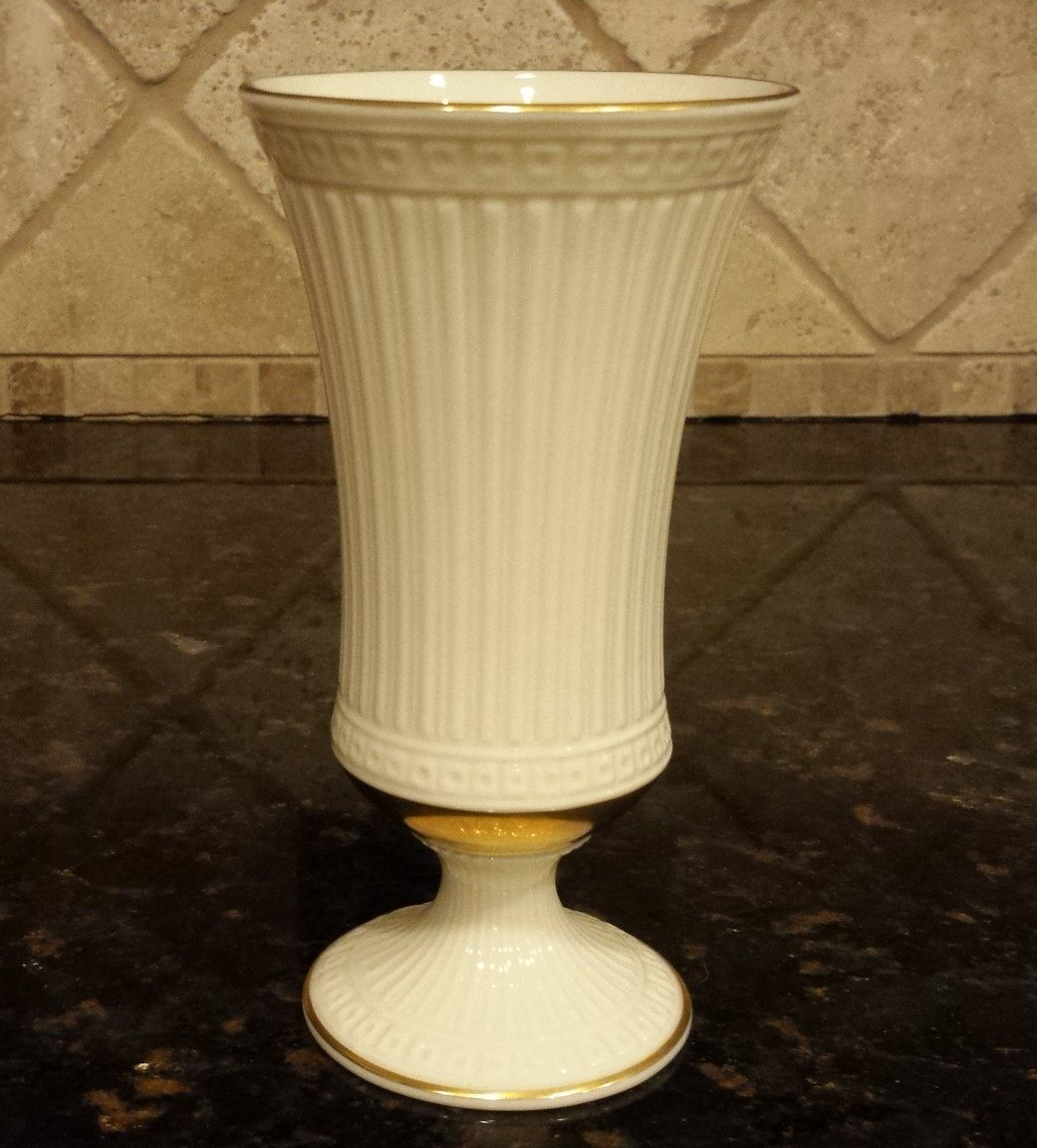Vintage lenox vase grecian collection ivory porcelain with gold vintage lenox vase grecian collection ivory porcelain with gold trim 7 inch floridaeventfo Image collections
