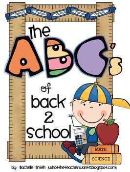 This ABC book will help your students understand your expectations for a successful school year!  With this A-Z Book, your students can learn the e...