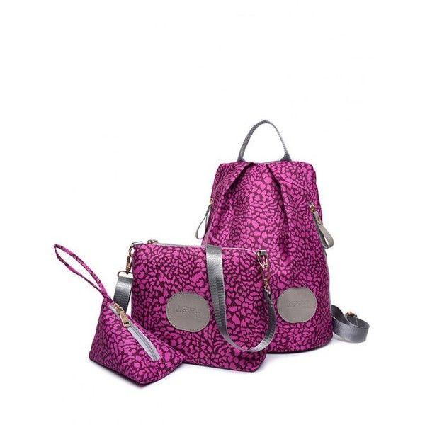 Print Zippers Color Spliced Backpack Violet Rose (€21) ❤ liked on Polyvore featuring bags, backpacks, rose bag, pattern bag, rucksack bags, patterned backpacks and backpack bags