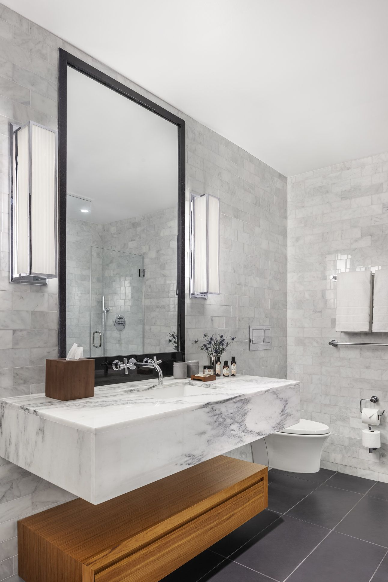 The Watermark Collection. Sense Wall Mounted 3 Hole Basin Tap in ...