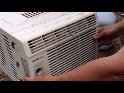 how to clean out a window air conditioner