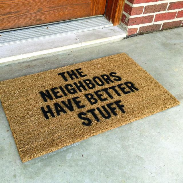You Know In Case Robbers Come In The Daytime And Happen To Pay Attention To Your Doormat Home Defense Door Mat Funny Gadgets