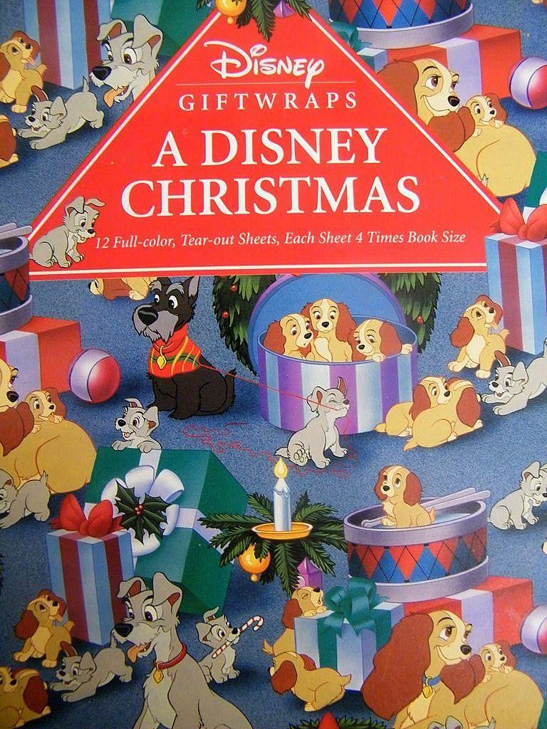 christmas wrapping paper disney