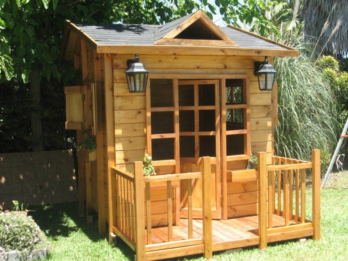 Casa de madera para ni os buscar con google casitas for Casita infantil jardin
