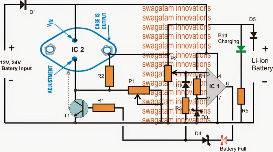 the post explains a high current li ion battery charger circuit rh pinterest com