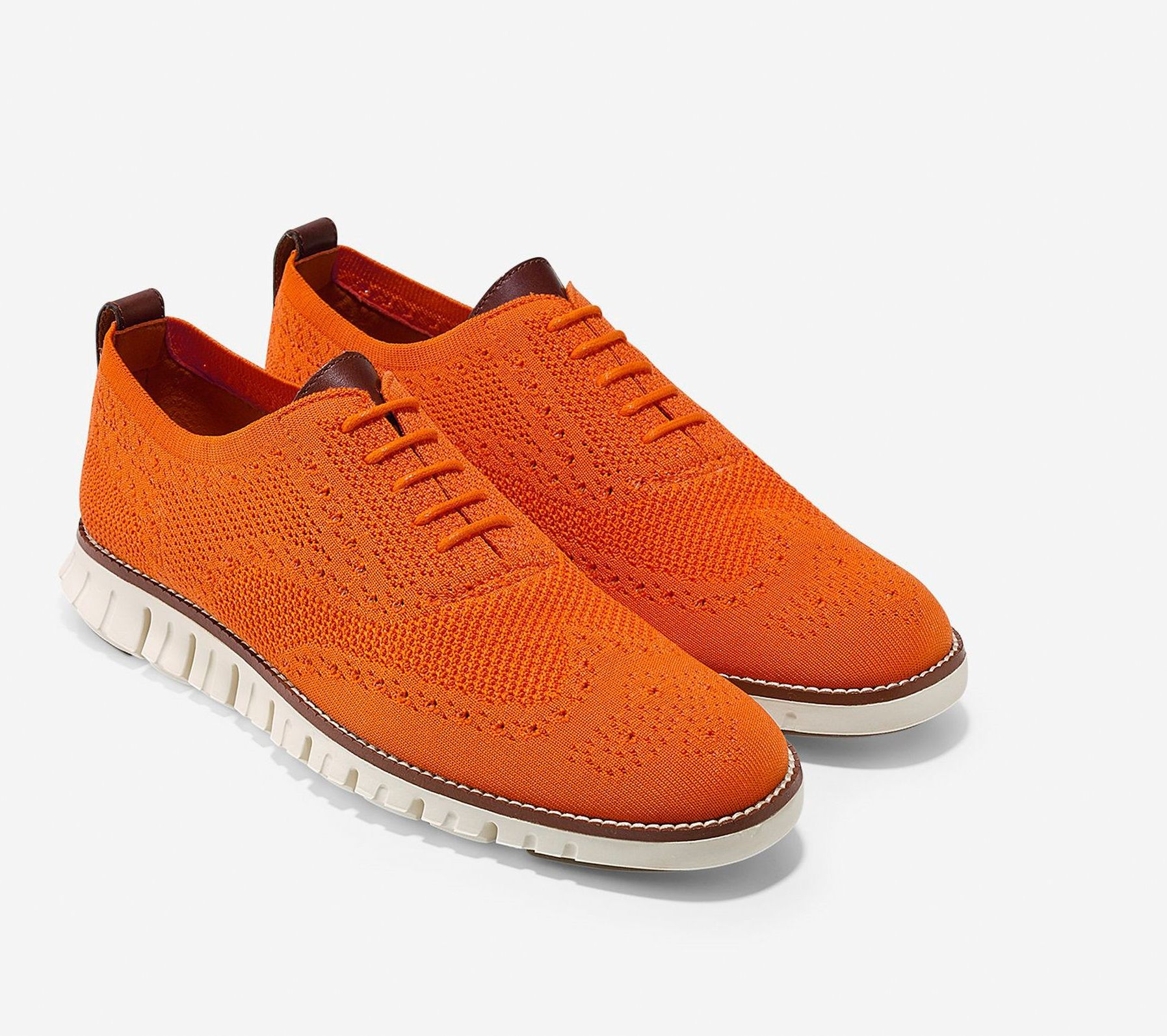 Make a statement with these orange shoes from Cole Haan