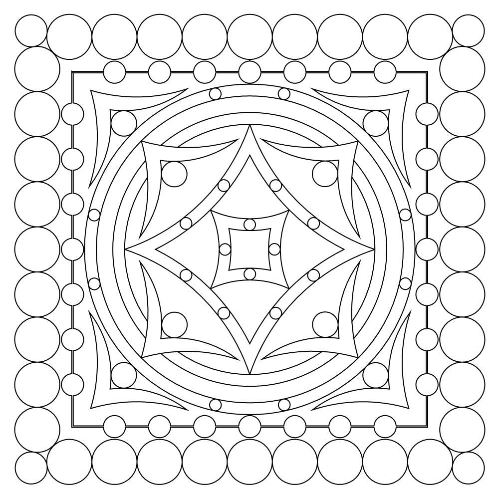Modern Block 003 Coloring Pictures Coloring Pages Quilting Stencils