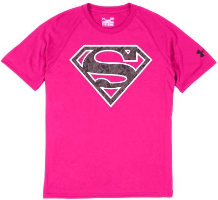 4f1149a0613c under armour alter ego superman t-shirt pink
