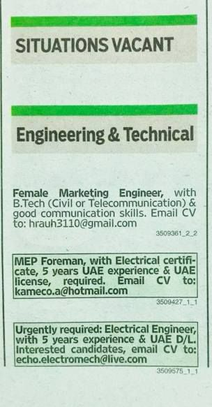 engineering and construction staff required jobs Pinterest Uae - staff accountant job description