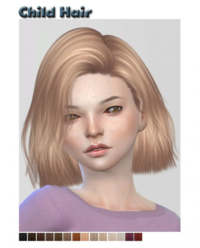 www hair styles photos nightcrawler child hair retexture at shysims via sims 4 8374