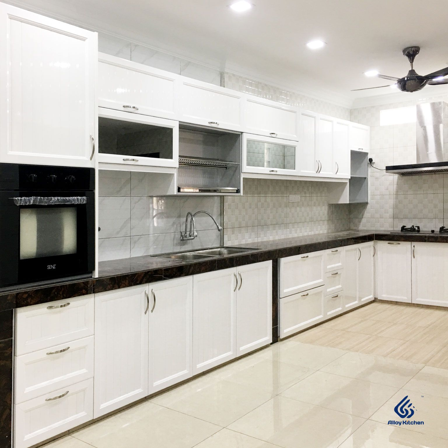 Alloy Kitchen Aluminium Woodgrain Series Kitchen Cabinet Aluminium Kitchen Aluminum Kitchen Cabinets Kitchen Cabinets