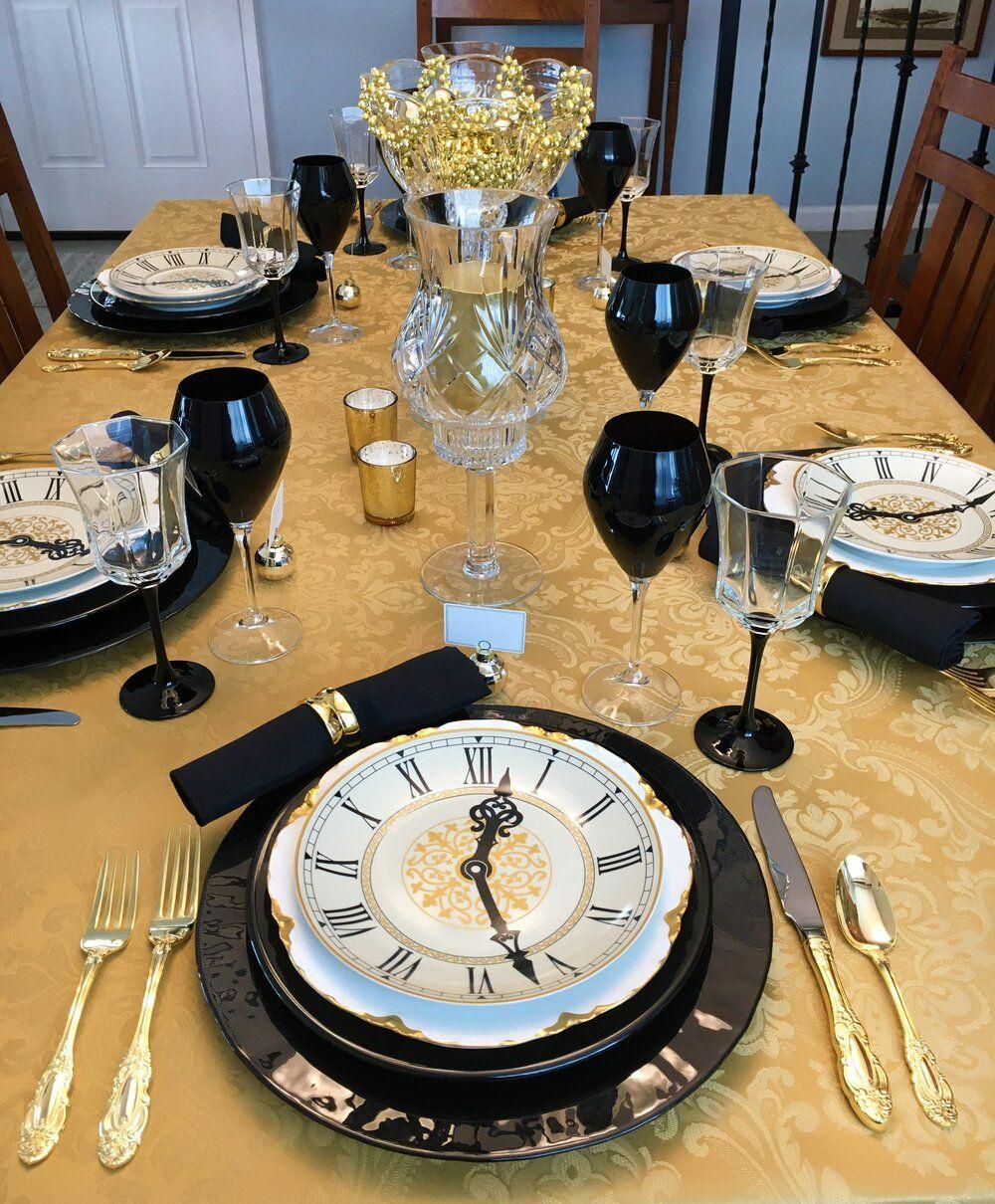 2019.12.31t.jpg in 2020 Gold table setting, Dinner table