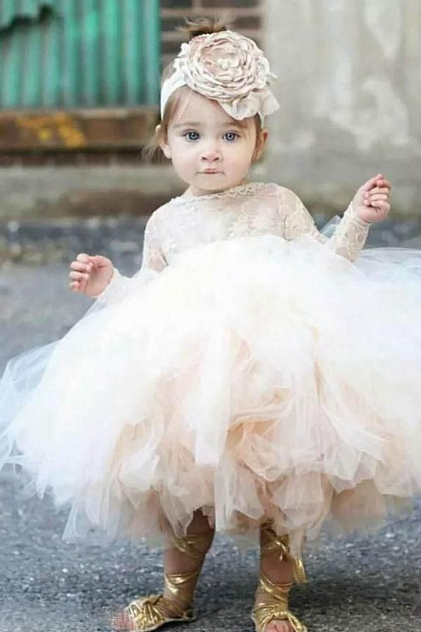 587ceb1f693c5 angrila #ballgown #tutu #lace #flowergirl #flowergirldress #weddings ...