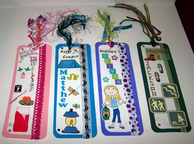 Camping book markers