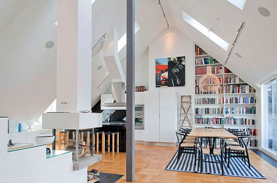 Luxurious Swedish Style Attic Penthouse Located In Östermalm