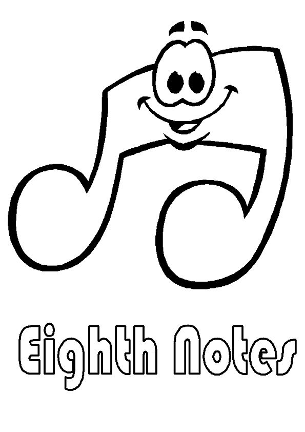 Top 10 Free Printable Music Notes Coloring Pages Online Music Notes Art Music Coloring Music Notes Drawing