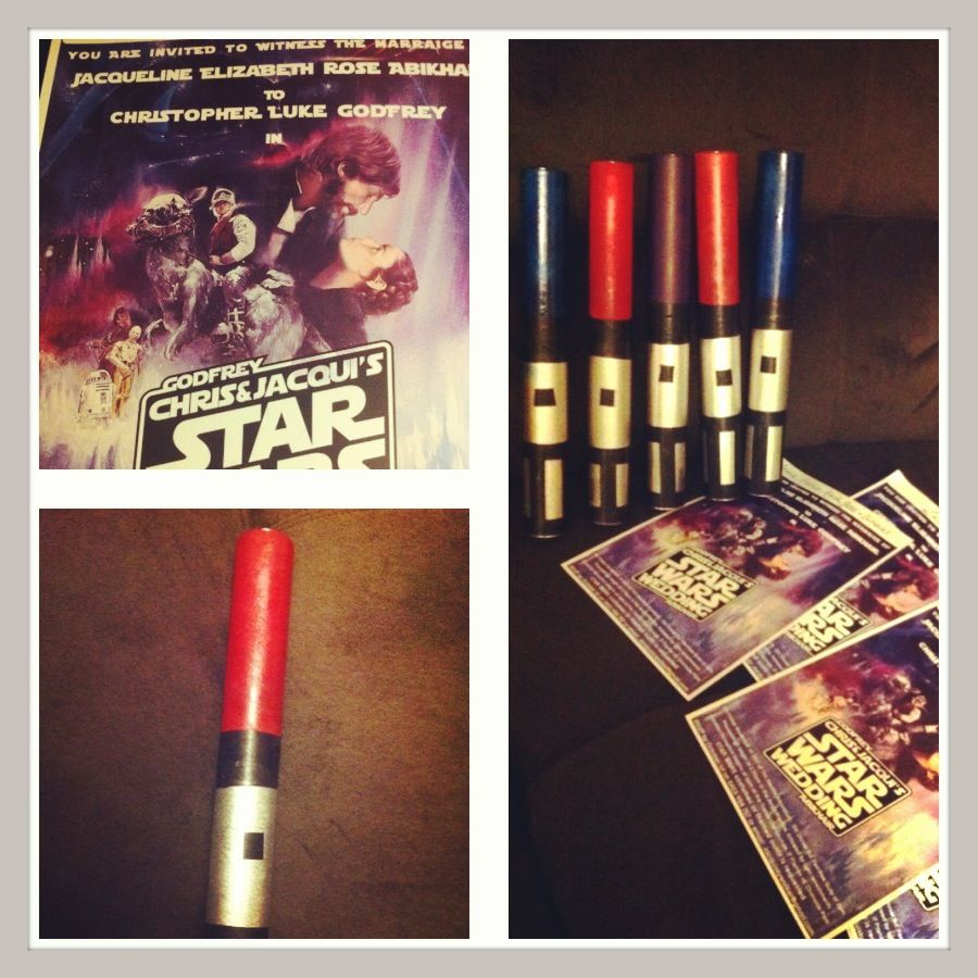 Rolled Wedding Invitations: Star Wars Wedding Invites. Movie Poster Invite, Rolled Up