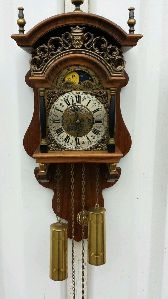 Dutch Sallandse Moon Phase Wall Clock 300 Antique