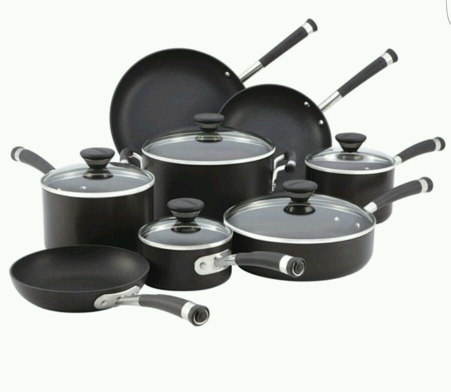 Non Stick Cookware Set Pots Pans Kitchen 13 Piece Black Frying Pan