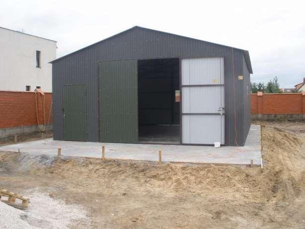 Fertiggarage blech  Details zu Stahlhalle Halle Blechgarage Garage Autolager 8 x 8 m ...