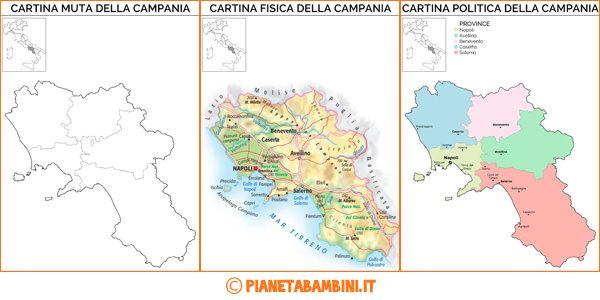 Cartina Muta Fisica E Politica Della Campania Da Stampare Italian