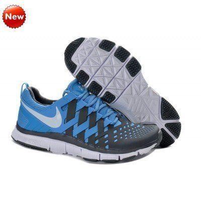 Vente Nike Université Bleu Blanc-Gris foncé chaussures, Nike Free formateur  5.0,579809