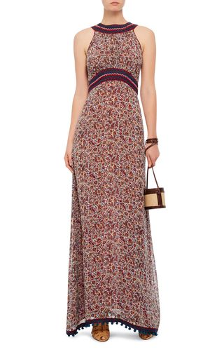 Floral Printed Silk Maxi Dress by TALITHA Now Available on Moda Operandi