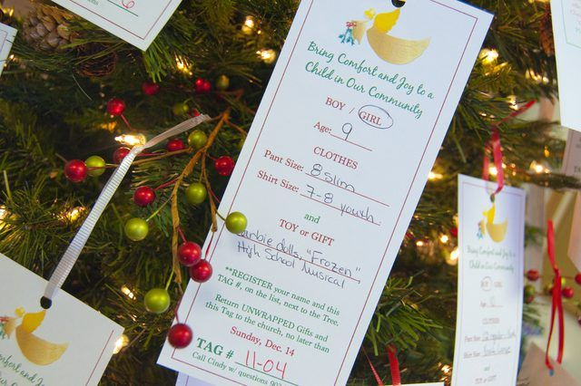 Creating An Angel Tree With Pictures Ehow Christmas Tree Angel Tree Tags Angel Tree Ideas