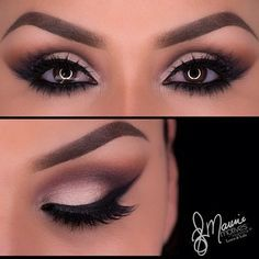 Eye makeup, Hair makeup, Black dress makeup