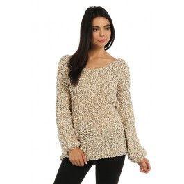 http://www.salediem.com/shop-by-size/small/cozy-pattern-marled-knit-boxy-sweater.html #salediem #fallsweaters